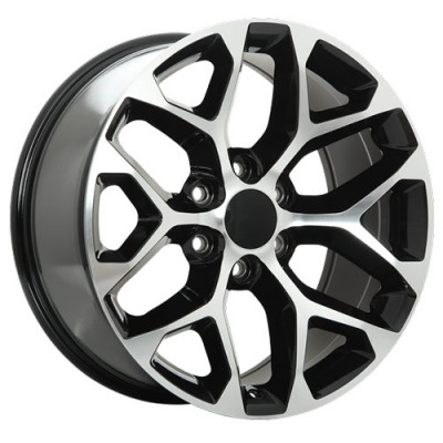 Roue Art Replica Wheels Replica 118, noir machine (20X9, 6x139.7, 78.1, déport 31)