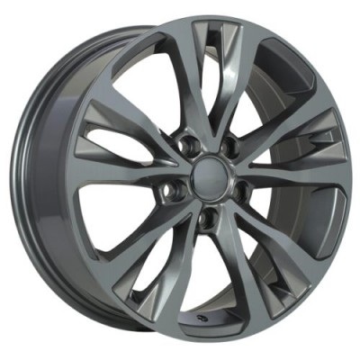 roue Art Replica Wheels Replica 126, gris gunmetal (17X7.0, 5x100, 54.1, déport 39)