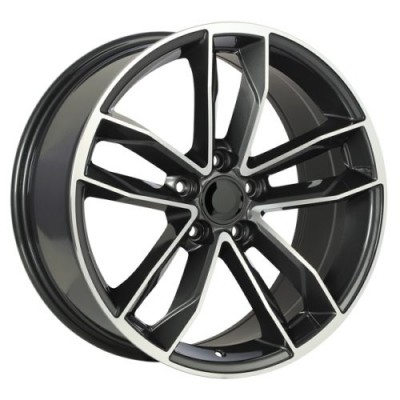 roue Art Replica Wheels Replica 129, gris gunmetal machine (19X8.5, 5x112, 66.5, déport 35)