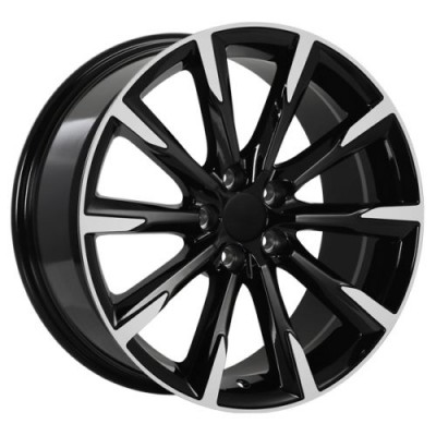 Roue Art Replica Wheels Replica 135, noir lustre machine (18X8.0, 5x108, 63.4, déport 42)