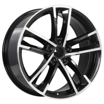 roue Art Replica Wheels Replica 142, noir lustre machine (18X8.0, 5x112, 66.5, déport 35)