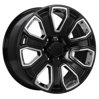 roue Art Replica Wheels Replica 146, noir insertion chrome (22X9.0, 6x139.7, 78.1, déport 31)