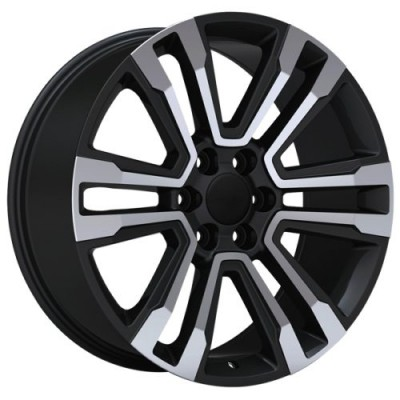 roue Art Replica Wheels Replica 147, noir machine (22X9.0, 6x139.7, 78.1, déport 31)