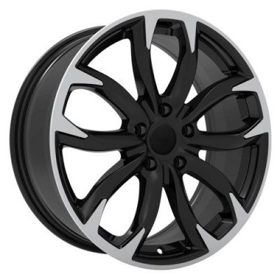 roue Art Replica Wheels Replica 148, noir lustre machine (17X7.5, 5x114.3, 67.1, déport 40)