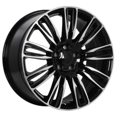 roue Art Replica Wheels Replica 152, noir lustre machine (20X9.5, 5x120, 72.6, déport 45)