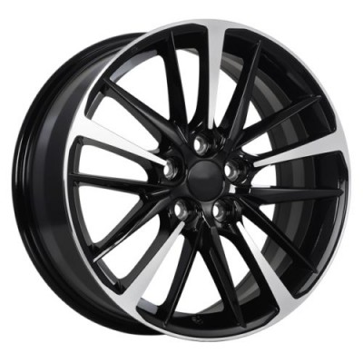 roue Art Replica Wheels Replica 155, noir lustre machine (17X7.0, 5x114.3, 60.1, déport 40)