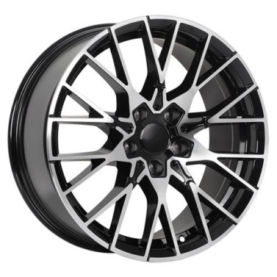 roue Art Replica Wheels Replica 166, noir lustre machine (18X9.0, 5x120, 72.6, déport 40)