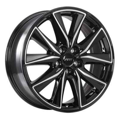 roue Art Replica Wheels Replica 168, noir lustre machine (19X7.0, 5x114.3, 67.1, déport 45)