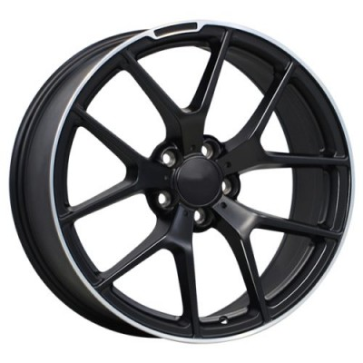 roue Art Replica Wheels Replica 174, noir lustre rebord machine (18X8.5, 5x112, 66.6, déport 40)