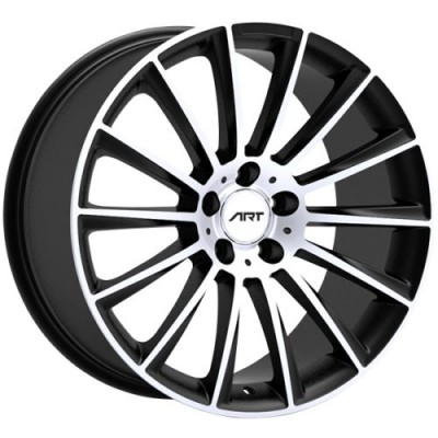 Roue Art Replica Wheels Replica 194, noir lustre rebord machine (18X8.5, 5x112, 66.6, déport 35)