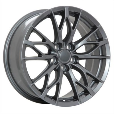 roue Art Replica Wheels Replica 52, gris gunmetal (18X8.0, 5x114.3, 60.1, déport 40)