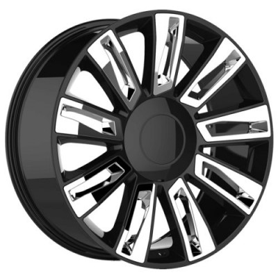 roue Art Replica Wheels Replica 80, noir insertion chrome (20X9.0, 6x139.7, 78.1, déport 31)