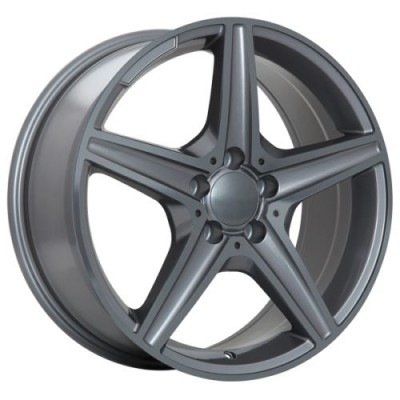 Roue Art Replica Wheels Replica 93, gris gunmetal (17X7.5, 5x112, 66.6, déport 35)