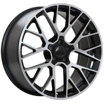Roue Art Replica Wheels Replica 98, noir lustre rebord machine (20X9.0, 5x112, 66.5, déport 26)