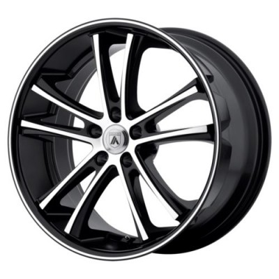 Roue Asanti Black ABL-1, noir machine (20X8.5, 5x114.3, 74.10, déport 35)