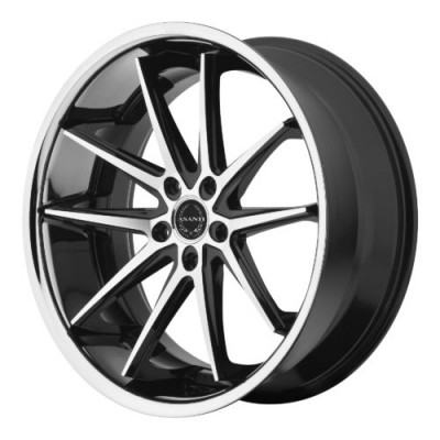 Roue Asanti Black ABL-5, noir machine (22X10.5, 5x120, 74.10, déport 38)