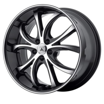 Roue Asanti Black ABL-8, noir machine (20X8.5, 5x120, 74.10, déport 35)