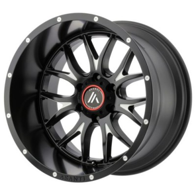 Roue Asanti Off Road AB807, noir machine (17X8.5, 6x139.7, 106.25, déport 25)