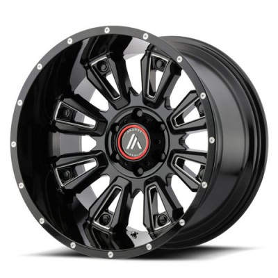 Roue Asanti Off Road AB808, noir lustre machine (20X12, 5x127, 72.60, déport -44)
