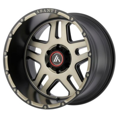 Roue Asanti Off Road AB809, noir mat machine (17X8.5, 6x120, 66.90, déport 25)
