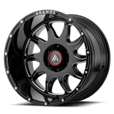 Roue Asanti Off Road AB810, noir lustre machine (20X12, 5x127, 72.60, déport -44)