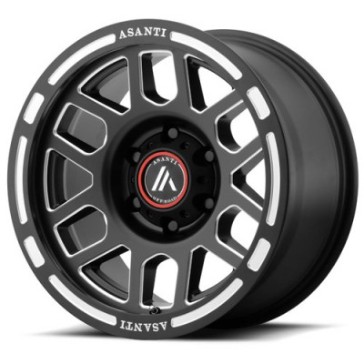 Roue Asanti Off Road AB812, noir machine (17X8, 8x170, 125.50, déport 0)