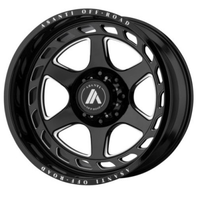 roue Asanti Off Road AB816, noir lustre machine (20X10, 5x127, 71.6, déport -18)