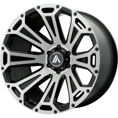 Roue Asanti Off Road CLEAVER, noir machine (22X10, 6x139.7, 78.3, déport -12)