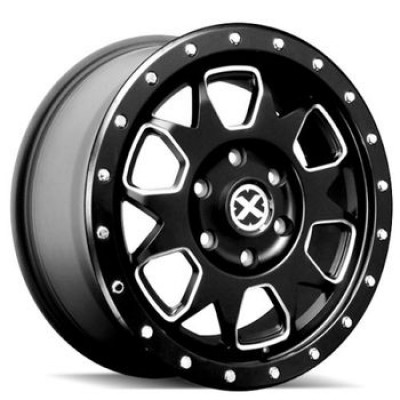 Roue ATX Series AX196, noir machine (17X9, 6x139.7, 93.10, déport 45)