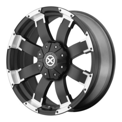 Roue ATX Series SHACKLE, noir machine (18X9, 5x114.3/127, 72.6, déport 20)