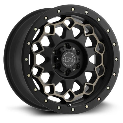 Roue Black Rhino Diamante, noir machine (20X9, 6x135, 87, déport 12)