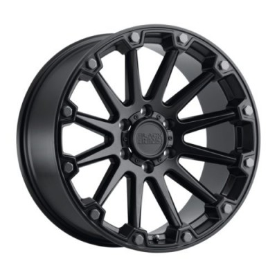 Roue Black Rhino PINNACLE, noir lustre (17X8.5, 5x114.3, 71.6, déport -18)