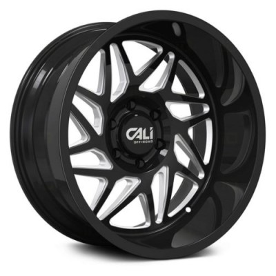 Roue Cali Off-Road GEMINI, noir lustre rebord machine (20X9, 6x135, 87.1, déport 0)