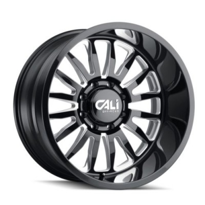 roue Cali Off-Road SUMMIT, noir lustre (20X10, 5x127, 78.1, déport -25)