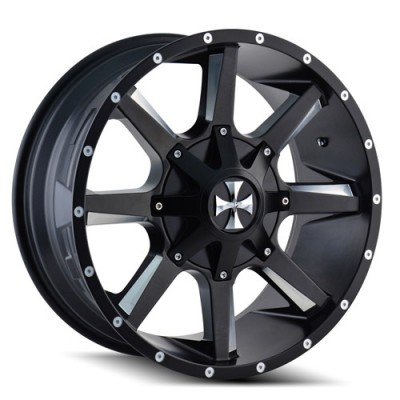 Roue Cali Off-Road BUSTED, noir machine (22X12, 6x135/139.7, 108, déport -44)