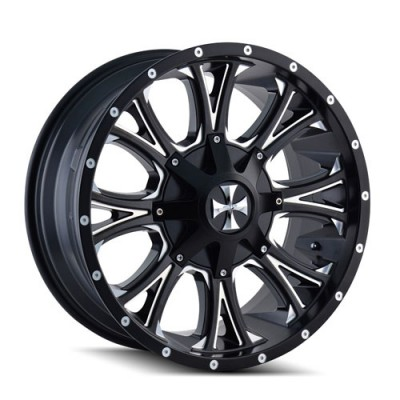 Roue Cali Off-Road AMERICANA, noir machine (20X9, 5x139.7/150, 110, déport 18)