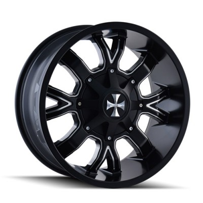 Roue Cali Off-Road DIRTY, noir machine (20X9, 5x127/139.7, 87, déport 18)