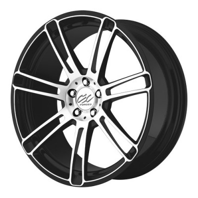 roue Cec Wheels C883, noir mat machine (20X8.5, 5x112, 66.56, déport 37)