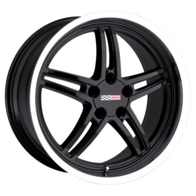Roue Cray Wheels SCORPION, noir lustre rebord machine (17X9, 5x120.65, 70.3, déport 50)