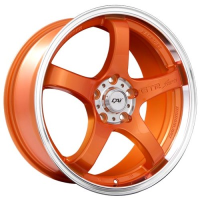 Roue Dai Alloys Candy, orange (15X6.5, 4x100, 73.1, déport 40)