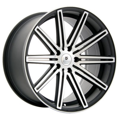 Roue Dai Alloys Modello, noir mat machine (18X8, 5x112, 66.6, déport 42)