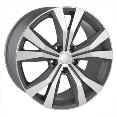 Roue Dai Alloys Replica 41, gris gunmetal machine (20X9.5, 5x130, 71.5, déport 50)
