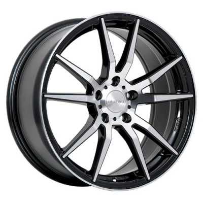 roue Ruffino Wheels Karbon, noir lustre machine (18X8, 5x114.3, 73.1, déport 45)