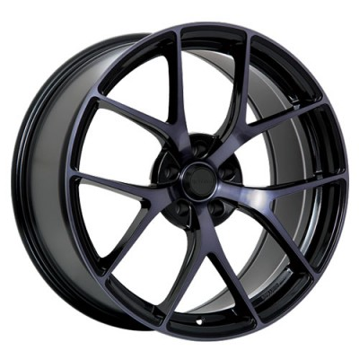 roue Ruffino Wheels Chronos, noir lustre machine (20X9, 5x108, 73.1, déport 40)