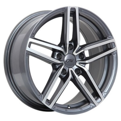 roue Dai Alloys Evo, gris gunmetal machine (16X7, 5x114.3, 73.1, déport 40)