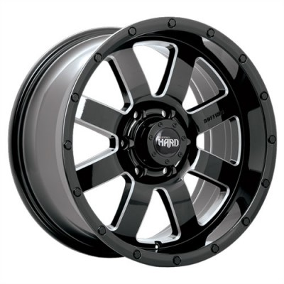 roue Ruffino Wheels Gear, noir lustre machine (20X9, 5x127, 71.5, déport 20)