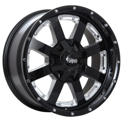roue Ruffino Wheels Gear-HD, noir lustre machine (17X9, 6x135, 87.1, déport 20)