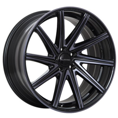 roue Ruffino Wheels Mistral, noir lustre machine (19X8, 5x114.3, 73.1, déport 45)