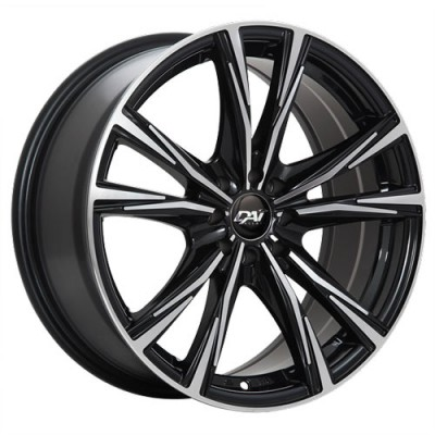 roue Dai Alloys Oracle, noir lustre machine (17X7.5, 5x114.3, 73.1, déport 41)