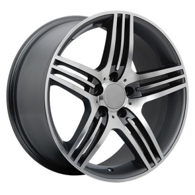 Roue Art Replica Wheels Replica 30, gris gunmetal machine (18X8.5, 5x112, 66.6, déport 45)